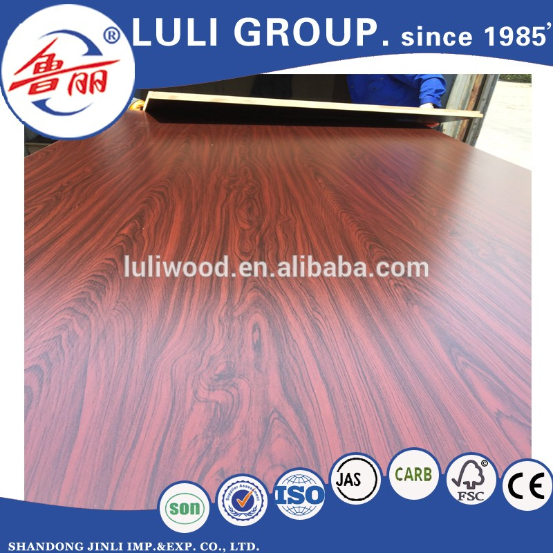 China Factory Furniture Grade18mm Melamine Faced MDF Board