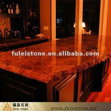 polished granite kitchen bar top