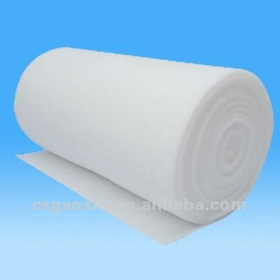 flame retardant white grey polyester or polypropylene nonwoven high-temperature felter felt roll for air condition filtration