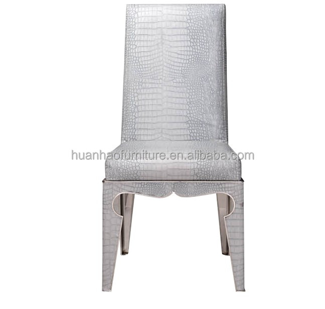 White rose gold metal chair dining room furniture Y911
