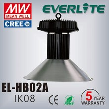 CE& ROHS certificate die-casting aluminum alloy housing energy saving 100lm/w100w led high bay light