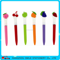 new style nice gift ball pen for children with fruit shape in top