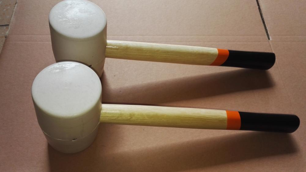 Hot Sale Wooden Handle White Rubber Mallet Hammer