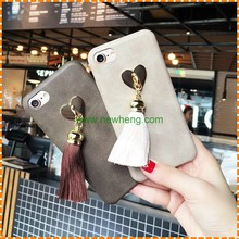 High Quality Retro tassel back cover leather case for iPhone 7 plus/For iPhone 7 Leather Retro Back Cover