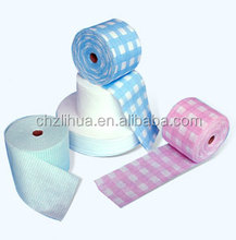 high oil water super absorbent nonwoven soft towel roll