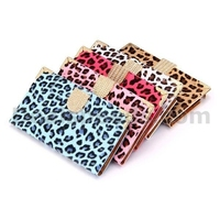 Leopard Pattern Diamond Magnetic Buckle Foldable Stand Leather Cover Case for Samsung Galaxy Note 3 N9000 N9002 N9006