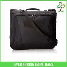 2 Way carrying water repellent polyester fabric mens travel suit garment bag for dress