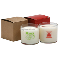 Aroma natural soy candle in beautiful glass jar