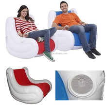 rocking inflatable sofa chair with speaker