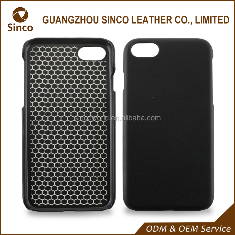 Online real leather case black phone cover for iphone 7