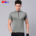 Fitness clothes compression sweatshirts men's 1/4 zip cycling t shirts wholesale custom gym wear