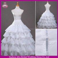 SW703 elegant 4 hoops 5 layers cheap ball gown petticoat for wedding dress