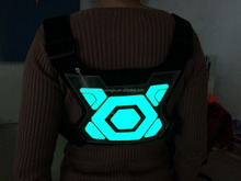Tracer360 - Revolutionary Illuminated and Reflective Vest for Running or Cycling Including Multicolored LED Fiber Optics (Women