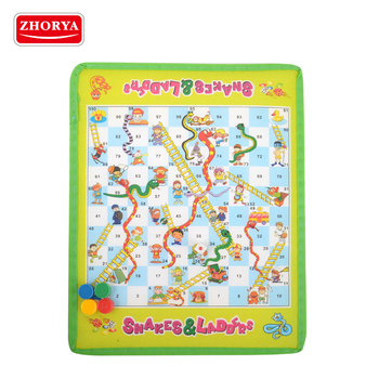 zhorya kids playing carpet ludo snake ladder board game