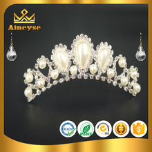 pearl tiara comb with best quality for girl hair decoration