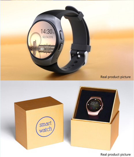Full Display Round IPS Screen LCD MTK2502C BT4.0 ce rohs smart watch KW18