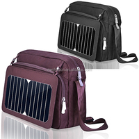 Nylon material solar panel bag with 4000mah power battery