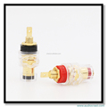24K Gold Plated Speaker Cable Binding Post Audio Cable Connectors Terminals Tube Amplifiers