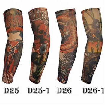 KaPin cool elastic colored printed tattoo arm sleeves for promotional gift