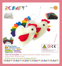 Felt Home Decor DIY KITS handmade Rooster mobile pendant toys