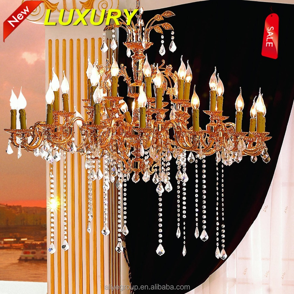 European style energy saving crystal chanderlier light chandelier with 24k gold 1032-32