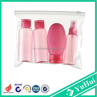 Personal Care Industrial Use and Shampoo Use 4pc Clear Air Flight Holiday Travel Airport Bottle Dispenser Set