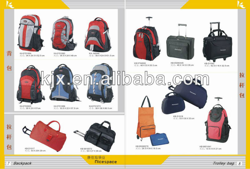 Durable Trolley Bags with Laptop Compartment