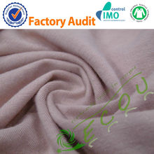 eco-friendly knitted hemp cotton blend fabric