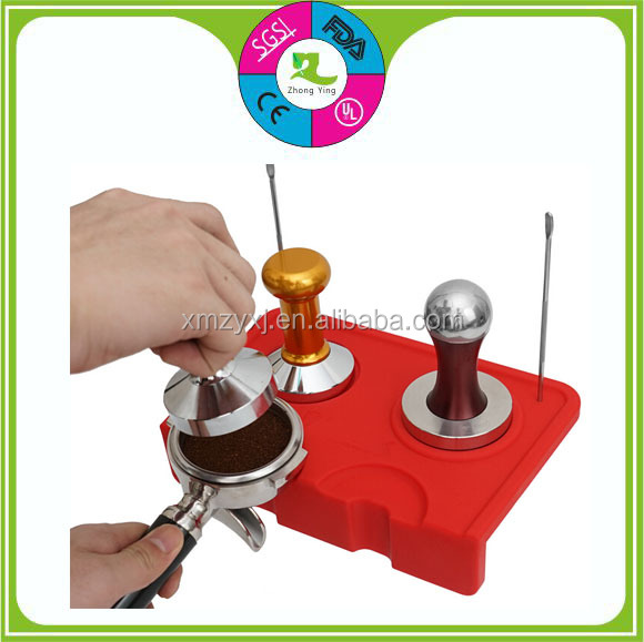 silicone coffee corner table tamper mat