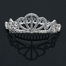 New fashion rhinestone crown crystal bridal silver tiara