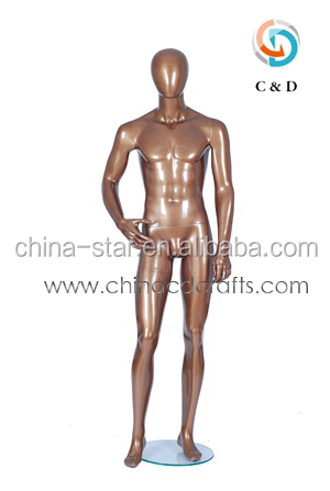 2014 New Arrival brass gold male mannequin, cheap male mannequin, vintage male mannequin