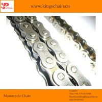 Nigeria brand name motorcycle chain 40MN 428-128L natural color