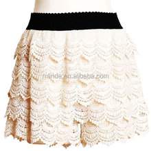 Custom Stretch Lace Short Pants Ivory Lace Shorts For Women Summer