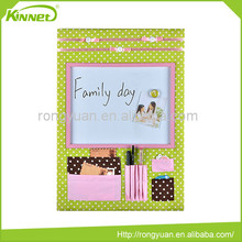 Fabric with printing surface built-in magnetic dry erase magnetic combo board