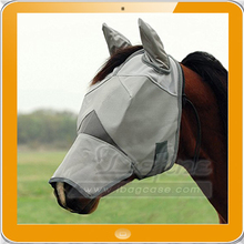 Breathable nylon standard fly mask for horse racing