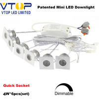 4W dimmable mini ceiling led lights 30mm cut size led spotlight AC110V