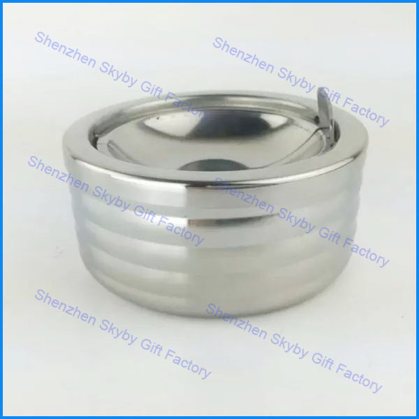 Windproof Custom Stainless Steel Ashtray