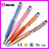 crystal touch pen stylus touch pen with rotation type metal crystal pens with custom logo