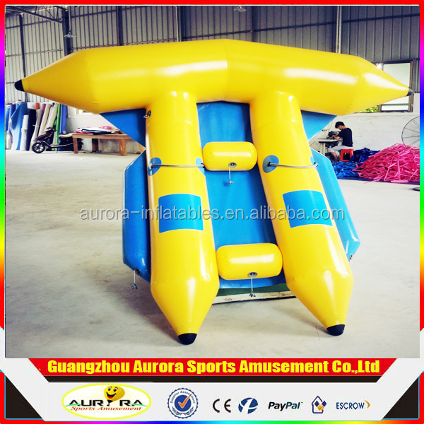 Factory Sale Large Water Toys/Surf Banana Boat/Inflatable Flying Fish As a Recreational Facility on The Water