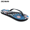 SEAVO SS18 latest design bulk footwear shining women flip flops