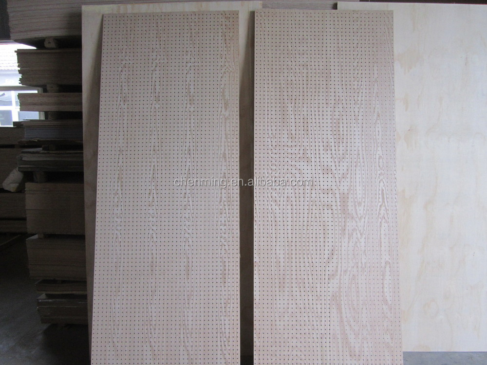 MDF perforated panel for supermatket shelves
