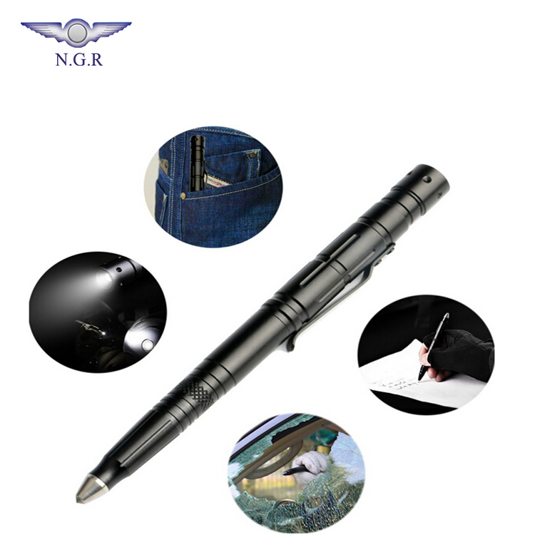 Tactical Multifunction <strong>Pen</strong> Military Self Defense <strong>Pen</strong> - Tactical LED Flashlight + Glass Breaker + Ballpoint +Multi tool