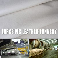 color pig grain hide finished pig skin leather for breathable boots