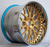 Chrome Lip Gold Center Black Bolts Aftermarket Wheel