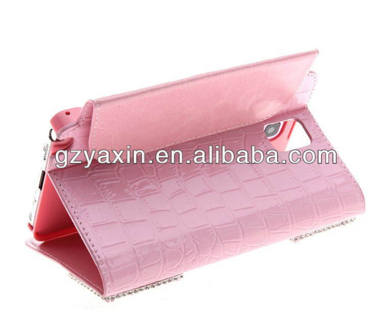 Perfect stand leather case for samsung galaxy note 3/iii n9000 n9002 n9005