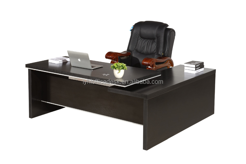 High quality classical boss table MDF wooden executive ceo desk