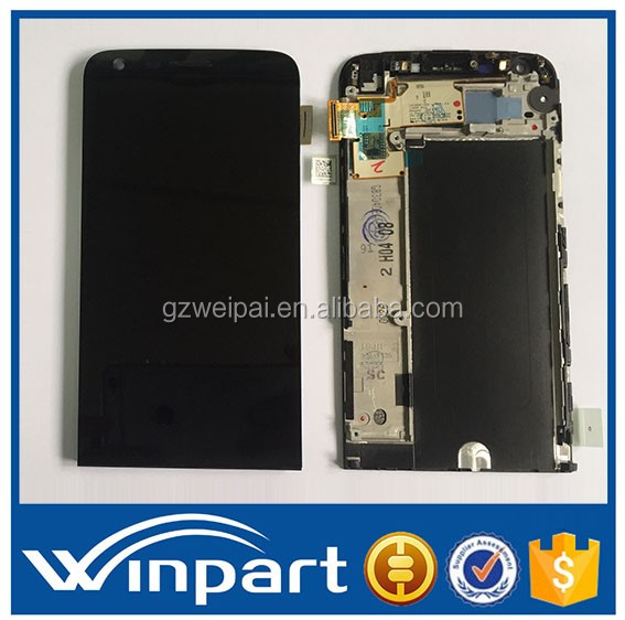 [win part]Original Mobile phone Parts replacement LCD display with Touch Panel Screen with frame full Assembly for LG G5