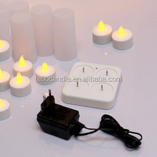 tea light led candle/ 4 sets yellow flickering tea light led candle