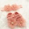 Baby Girls' Perfect Photo Props 2 Piece Headband and Sock Set