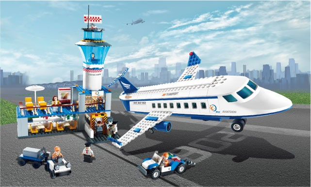 GUDI BRICK Hot sale 651 pcs educational airport bricks toy for kid